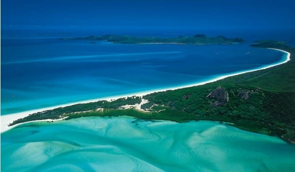 Whitehaven Beach scenic flight view