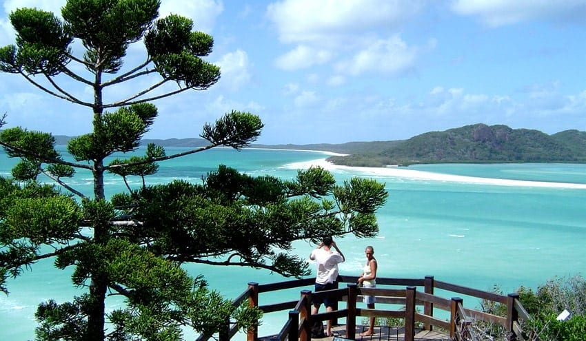 Hill Inlet lookout Whitehaven Beach tour